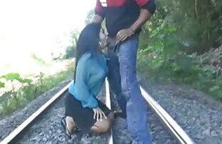 Ébano videos xxx de jovencitos gay tetas MILF golpeó por blanco dick